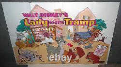 Affiche De Cinéma Originale De Lady Et The Tramp Disney U. K. 30x40 Quad