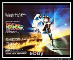 Affiche De Cinéma Originale De Retour Au Futur 30 X 40 Uk Quad 1985