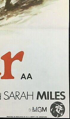 Affiche De Cinéma Originale De Ryans Daughter Quad John Mills David Lean 1970