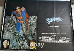 Affiche De Cinéma Originale De Uk Quad Superman The Movie (1978) Très Bon État