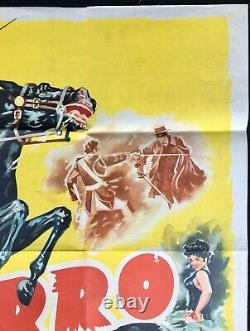 Affiche De Cinéma Originale De Zorro Quad Guy Williams Walt Disney 1958
