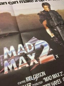 Affiche De Cinéma Originale Mad Max 2 Uk Quad
