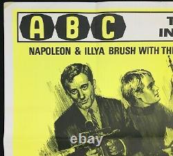 Affiche De Cinéma Originale Quad De L'uncle Robert Vaughan Spy In The Green Hat