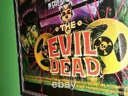 Affiche De Cinéma Originale The Evil Dead 1982 Royaume-uni British Quad Nm 9 Bruce Campbell