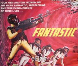 Affiche De Cinéma Originale Vintage Quad De Fantastic Voyage Uk, 1968, Oeuvre De Tom Beauvais