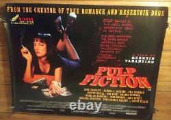 Affiche De Cinéma Pulp Fiction Uk British Quad Tarantino Travolta Classic