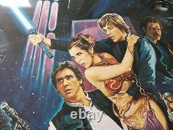 Affiche De Cinéma Return Of The Jedi Original Uk Quad 1983 Rolled London Underground