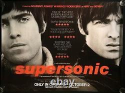Affiche De Cinéma Supersonic Original Quad Documentaire Liam Noel Gallagher Oasis 2016