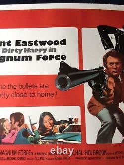 Affiche De Cinéma Uk Quad Orig Lin Bk Dirty Harry Clint Eastwood- Magnum Force Nm