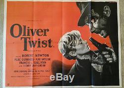 Affiche De Film Oliver Twist Original Uk Quad David Lean Rare Vintage