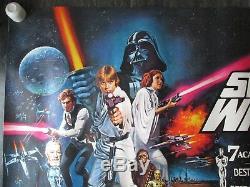 Affiche De Film Originale Britannique Quad De Star Wars (1978), Très Rare Affiche Enroulée Star Wars