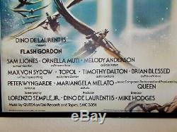 Affiche De Film Originale Quad Originale Au Format Flash Gordon Uk 1980 30 X 40 Encadrée Et Prête À Accrocher