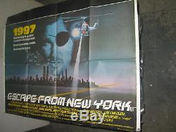 Affiche Du Film Brit Quad De New York / Orig (john Carpenter / Kurt Russell)