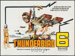 Affiche Du Film British Quad 1968 Ajouter Gerry Anderson Au Spectacle De Thunderbird 6 Thunderbirds