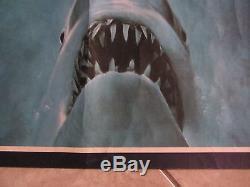 Affiche Du Film Jaws Richard Dreyfuss, Roy Scheider, Robert Shaw Au Royaume-uni Quad