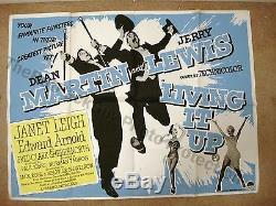 Affiche Du Film Martin Et Lewis British Quad 40 X 30 Original 1954