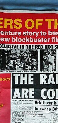 Affiche Du Film Originale Britannique Quadruple The Sun Teaser Rare