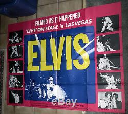 Affiche Du Film Quad Original De Rare 1971 Elvis Presley 1971 Rare 1971