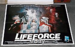 Affiche Du Film Quad Originale De Lifeforce 1985 1985 Steven Railsback / Mathilda May