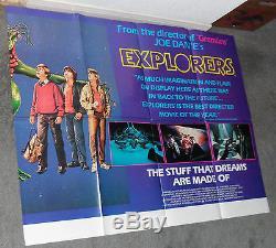 Affiche Du Film Quad Rare Rare Explorers River Phoenix / Ethan Hawke / Joe Dante