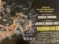Affiche James Bond Moonracker, Royaume-uni Film Quad Original