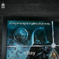 Affiche Movie Quad Rare Dans Le Cadre Noir 'star Wars'
