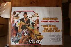 Affiche Originale 1974 Du Quad Du Royaume-uni The Man With The Golden Gun