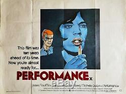 Affiche Originale Britannique Quad Uk Movie Performance 1979: Mick Jagger