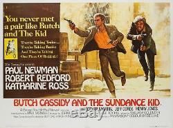 Affiche Originale De Butch Cassidy Et Du Sundance Kid Au Royaume-uni (uk), 1969