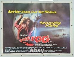 Affiche Originale De Cinéma Du Quadruple Royaume-uni Soutenue Par Le Film Fog 1980 Linen