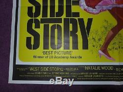 Affiche Originale De Cinéma Vintage De Cinéma De Film De Quad De Westside Story Des Années 40 40 X 30