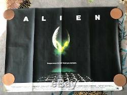 Affiche Originale De Film De 1979 Alien Uk Quad