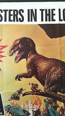 Affiche Originale De Film Du Royaume-uni 1969 Dino Harryhausen Dans La Vallée De Gwangi