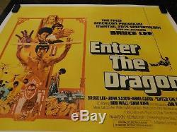 Affiche Originale De Film Enter The Dragon, Quad Britannique, C8.5 Très Fine / Near Mint