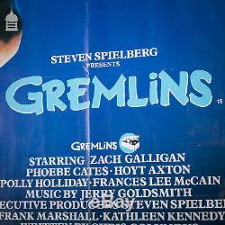 Affiche Originale De Film Gremlins Quad Dans Un Cadre Noir