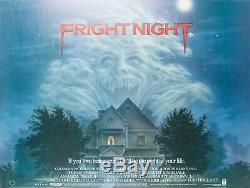 Affiche Originale De Fright Night, Uk Quad, Film / Film Peter Mueller