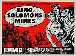 Affiche Originale De King Salomon's Mines 1950, Uk Quad, Film / Film