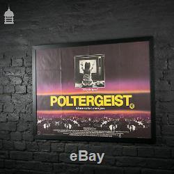 Affiche Originale Du Film Poltergeist Quad Dans Un Cadre Noir