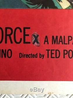Affiche Originale Du Film Quad De Magnum Force 1973: Clint Eastwood Le Sale Harry