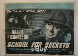 Affiche Originale Du Film Uk Quad De School For Secrets