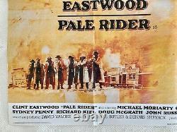 Affiche Quad Du Film Original De Pale Rider 1985 Clint Eastwood Michael Dudash