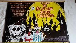 Affiches De Films Originaux Uk Quad. Le Cauchemar Avant Noël Paysage Rare