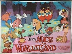 Alice Au Pays Des Merveilles Original Quad Movie Poster Walt Disney Mad Hatters Tea Party