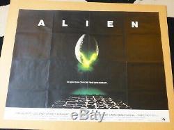 Alien 1979 Film Original Quad Poster