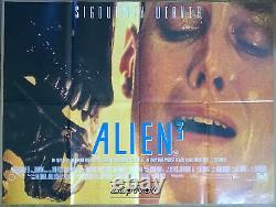 Alien 3 Original 1992 Movie Poster 30x40 Uk Quad Sigourney Weaver Scifi 1990s