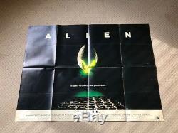 Alien Original Uk Quad Film Affiche Du Film