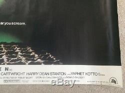 Alien Originale Uk Quad 1970 Affiche Du Film (de Sortie D'origine) État Laminé