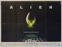 Alien Release Originale Affiche Du Film Quad Britannique