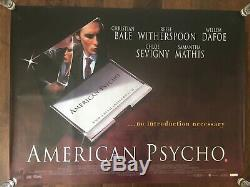 American Psycho Film Affiche Originale Uk Quad