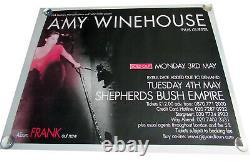 Amy Winehouse Film Uk Quad Poster Original S/s Taille Complète Rare Concert
